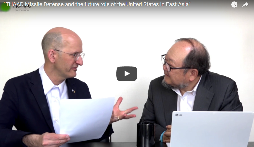 """THAAD Missile Defense and the future role of the United States in East Asia"""